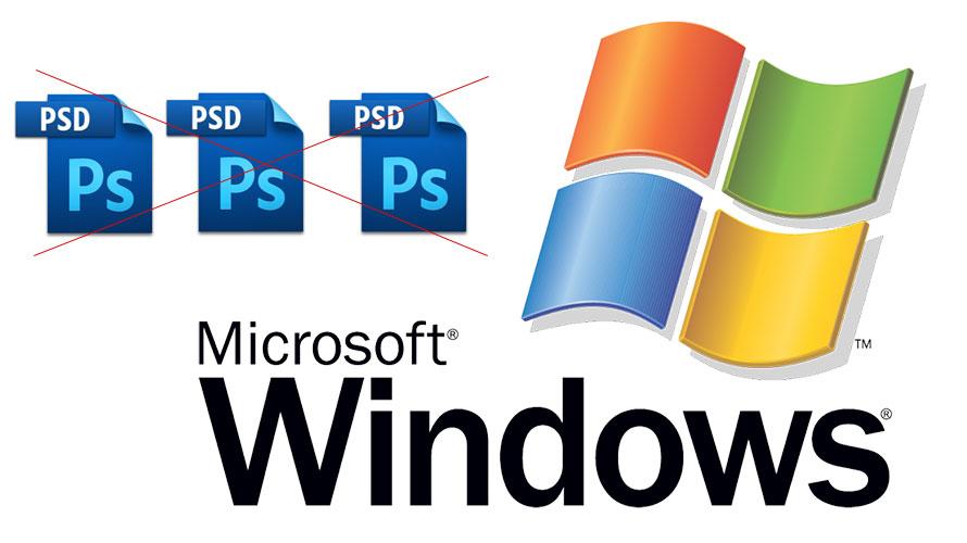 Photoshop(フォトショップ)のpsdファイルをサムネ画像表示させる方法